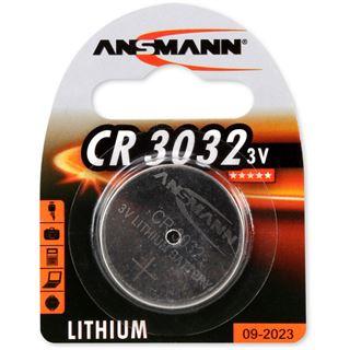 Ansmann Knopfzelle 3V Lithium CR3032, 1er Pack (1516-0013)