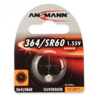 Ansmann Silberoxid-Knopfzelle, 1,55V, 364/SR60 (1516-0022),