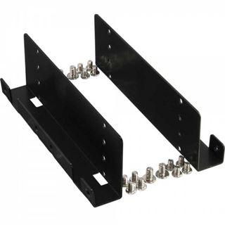 """InLine HDD/SSD Einbauschienen, 4x 6,35cm (2,5"""") zu 8,89cm (3,5""""), nur Rahmen und Schrauben, schwarz"""