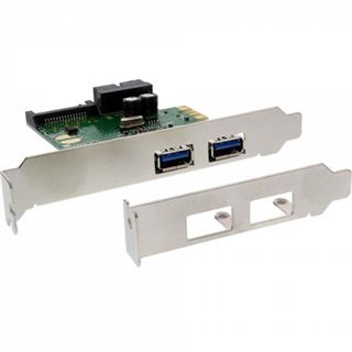 InLine 76666D 3 Port PCIe inkl. Low Profile Slotblech / Low Profile