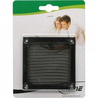 InLine Lüftergitter, Aluminium Filter, 80x80mm, schwarz