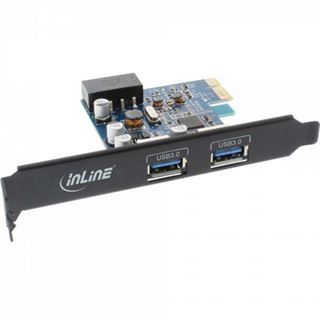 InLine 76662B 2 Port PCIe 2.0 x1 inkl. Low Profile Slotblech / Low