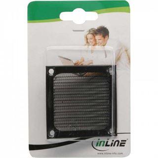 InLine Lüftergitter, Aluminium Filter, 60x60mm, schwarz