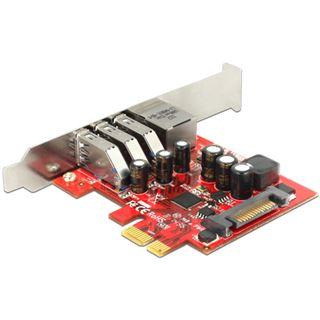 Delock 89382 4 Port PCIe inkl. Low Profile Slotblech / Low Profile