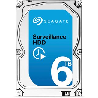 "6000GB Seagate Surveillance HDD +Rescue ST6000VX001 128MB 3.5"""