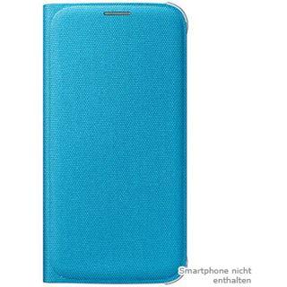 Samsung EF-WG920B Textil Flip-Cover für Samsung Galaxy S6 blau