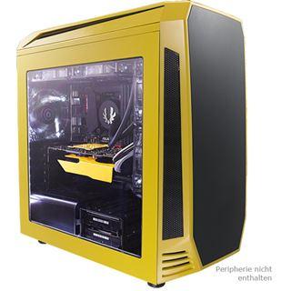 BitFenix Aegis Core gelb mit Sichtfenster Mini Tower ohne Netzteil