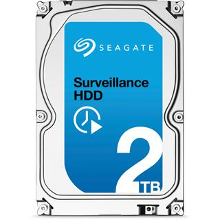 "2000GB Seagate Surveillance HDD +Rescue ST2000VX005 64MB 3.5"" (8.9cm) SATA 6Gb/s"