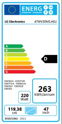 """47"""" (119,38cm) LG Electronics 47WV30MS schwarz 1366x768 1xHDMI"""