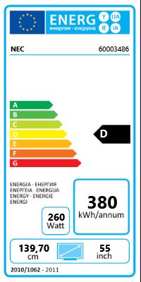 """55"""" (139,70cm) NEC MultiSync E554 schwarz 1920x1080 3xHDMI"""