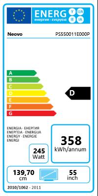 "55"" (139,70cm) Neovo PS-55 schwarz 1920x1080 HDMI / 1xComposite / Component-Eingang (Y/Pb/Pr) / VGA / DVI-D / DisplayPort / seriell"