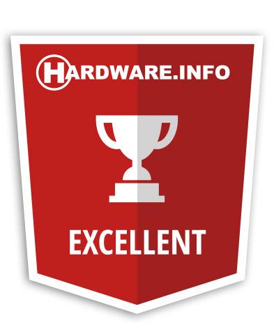 Hardware.info Excellent award