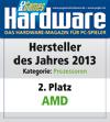 AMD - 2. Platz Hersteller des Jahres APUs