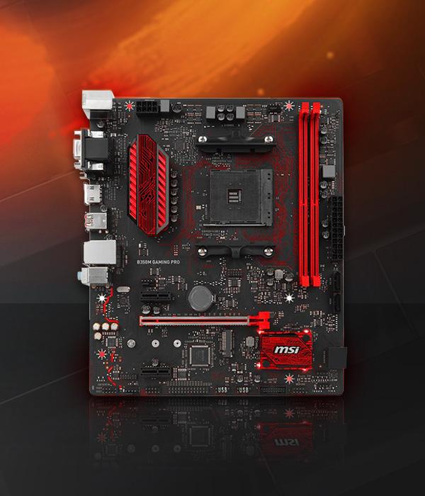 MSI B350M GAMING PRO AMD B350 So.AM4 Dual Channel DDR4 mATX Retail