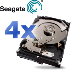 4x Seagate ST2000DX001 2TB SSHD - Die Leistung einer SSD mit der Kapazität einer HDD