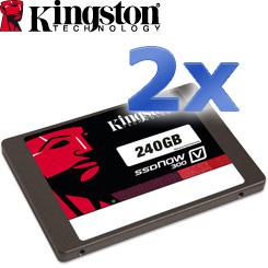2x Kingston SSDNow V300 240GB SSD - bringen Sie Ihrem Computer in Schwung