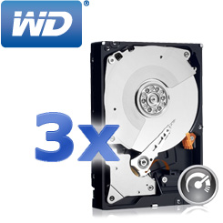 3x WD Black 1TB Desktop-Festplatte - Leistung, die beeindruckt
