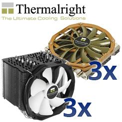 Aus der innovativsten Kühlerschmiede: 3x Thermalright HR-02 Macho Rev. B + 3x AXP-200
