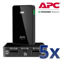 APC Mobile Power Pack M5 schwarz - Laden Sie Ihre mobilen Geräte jederzeit und überall
