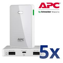 APC Mobile Power Pack M5 weiß - Laden Sie Ihre mobilen Geräte jederzeit und überall