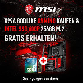 GRATIS Intel SSD 600P 256GB M.2