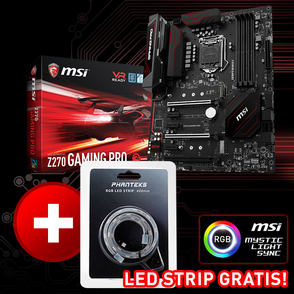MSI Z270 GAMING PRO Intel Z270 So.1151 Dual Channel DDR4 ATX Retail