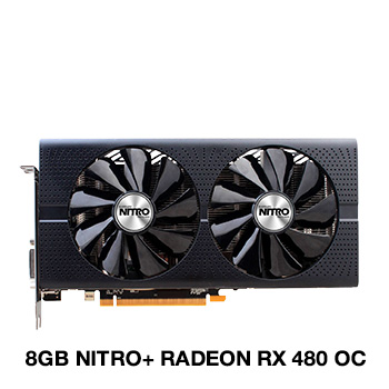 8GB Sapphire Radeon RX 480 Nitro+ OC Aktiv PCIe 3.0 x16 (Lite Retail)