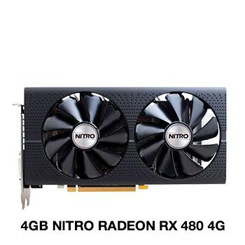 4GB Sapphire Radeon RX 480 NITRO 4G D5 OC Aktiv PCIe 3.0 x16 (Retail)