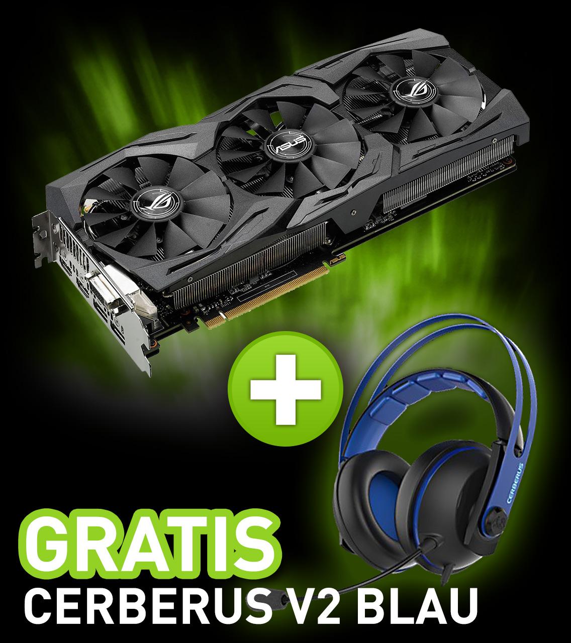 8GB Asus GeForce GTX 1080 Strix Aktiv PCIe 3.0 x16 (Retail)