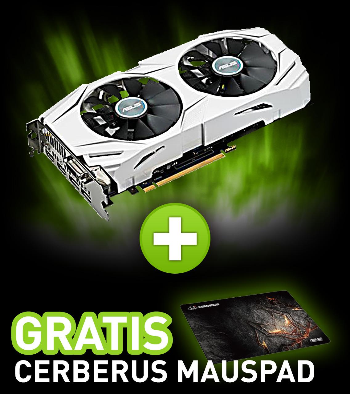 6GB Asus GeForce GTX 1060 Dual OC Aktiv PCIe 3.0 x16 (Retail)