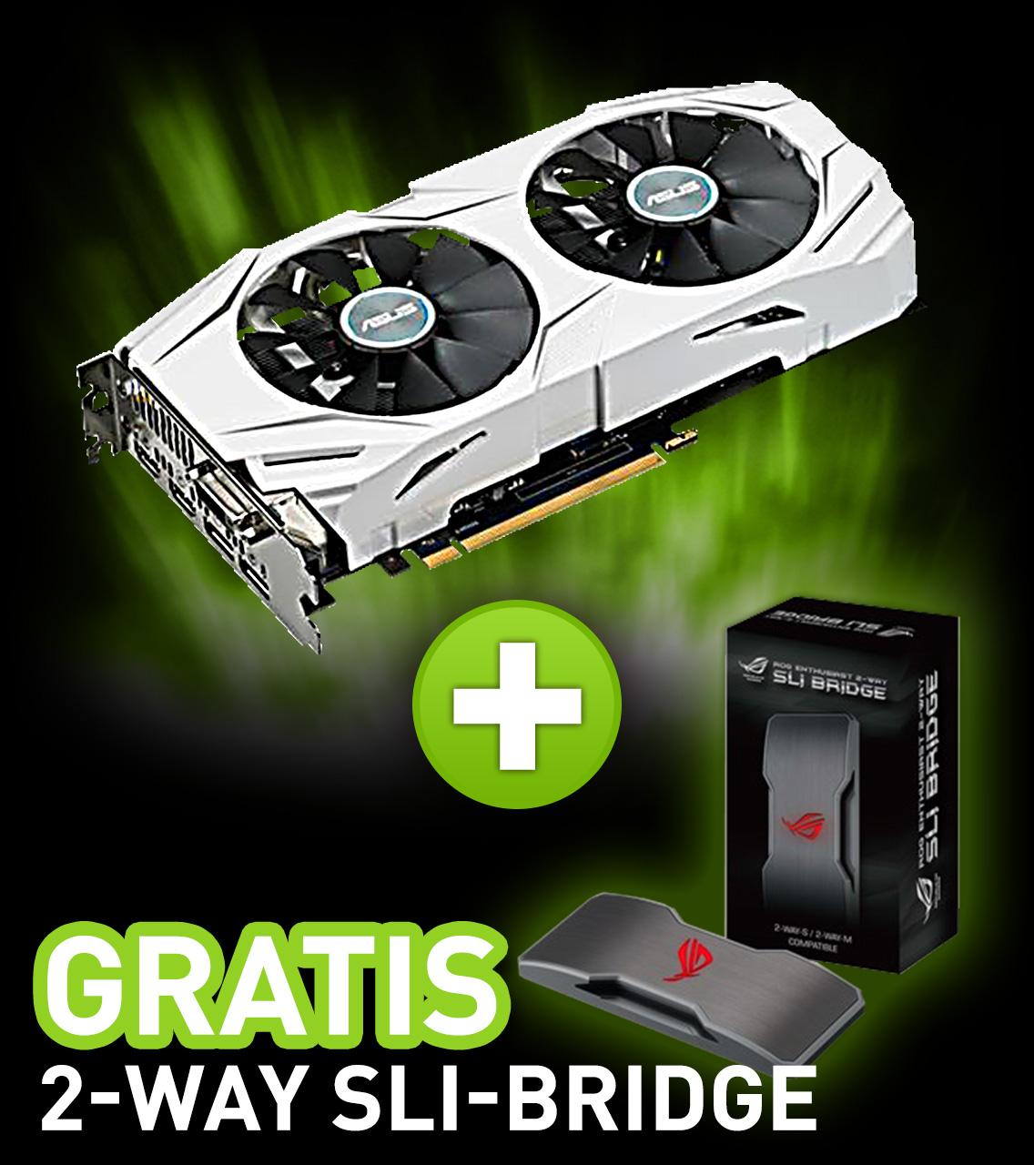 8GB Asus GeForce GTX 1070 Dual OC Aktiv PCIe 3.0 x16 (Retail)