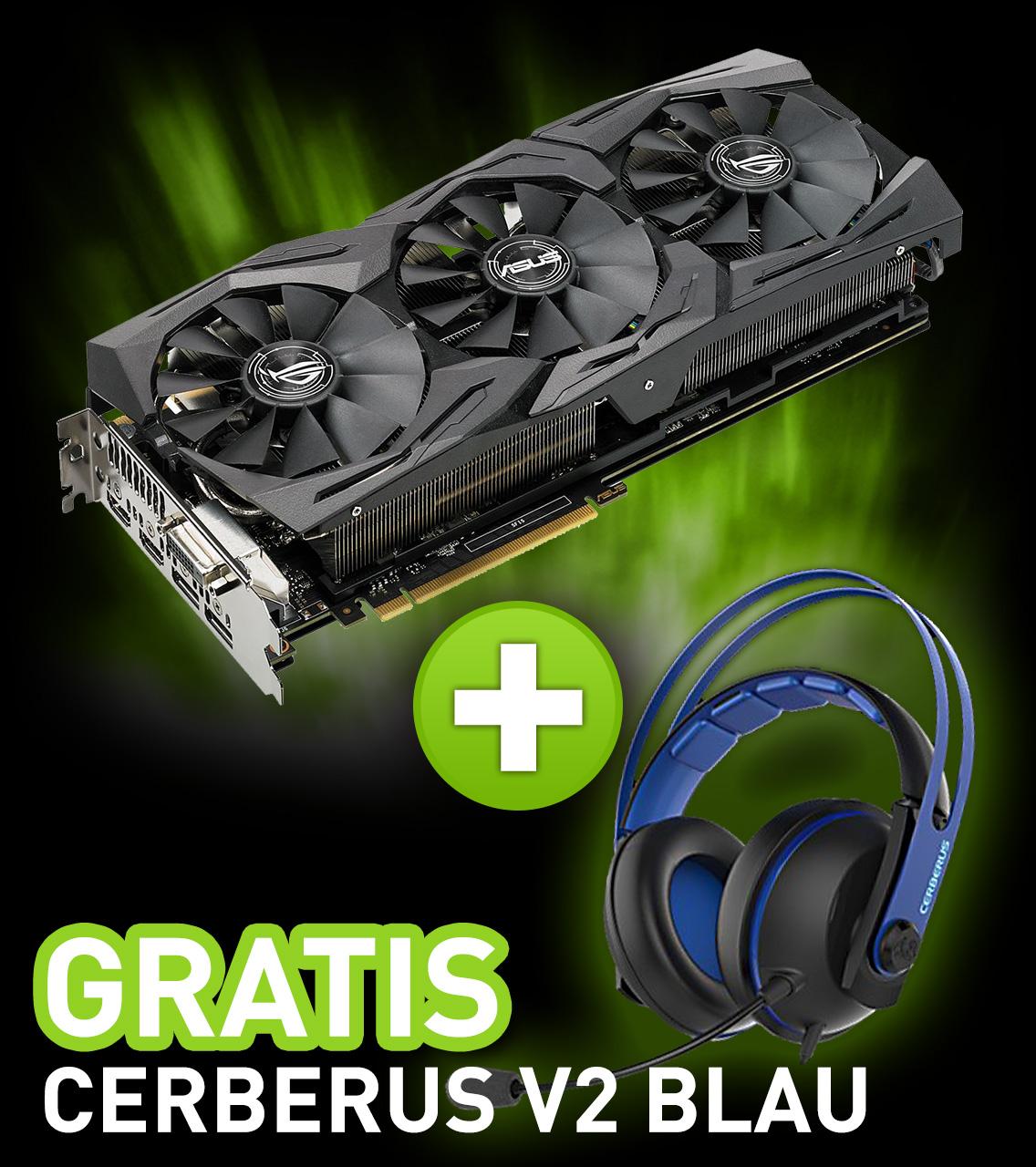 8GB Asus GeForce GTX 1080 ROG Strix OC Aktiv PCIe 3.0 x16 (Retail)