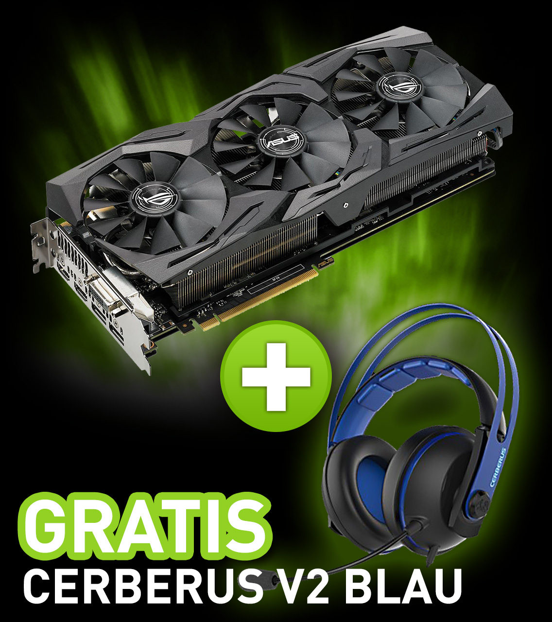 8GB Asus GeForce GTX 1080 ROG Strix Gaming Aktiv PCIe 3.0 (Retail)
