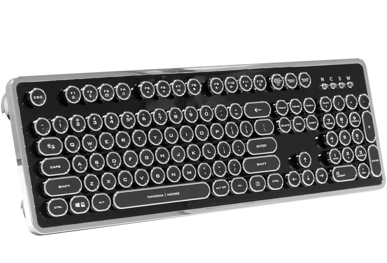 Nanoxia Ncore Retro USB Englisch schwarz/silber (kabelgebunden)