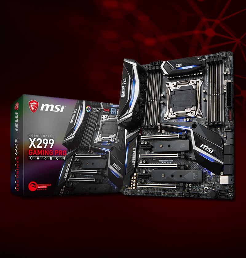 MSI X299 GAMING PRO CARBON Intel X299 So.2066 Quad Channel DDR4 ATX Retail