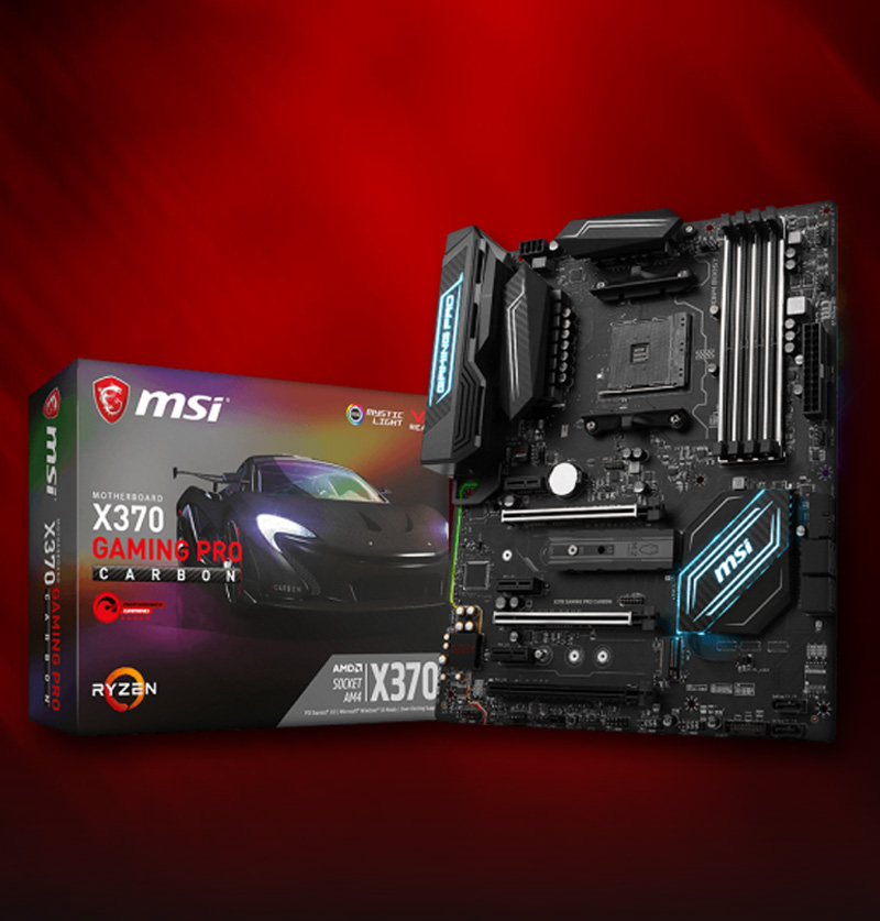MSI X370 GAMING PRO CARBON AMD X370 So.AM4 Dual Channel DDR4 ATX Retail
