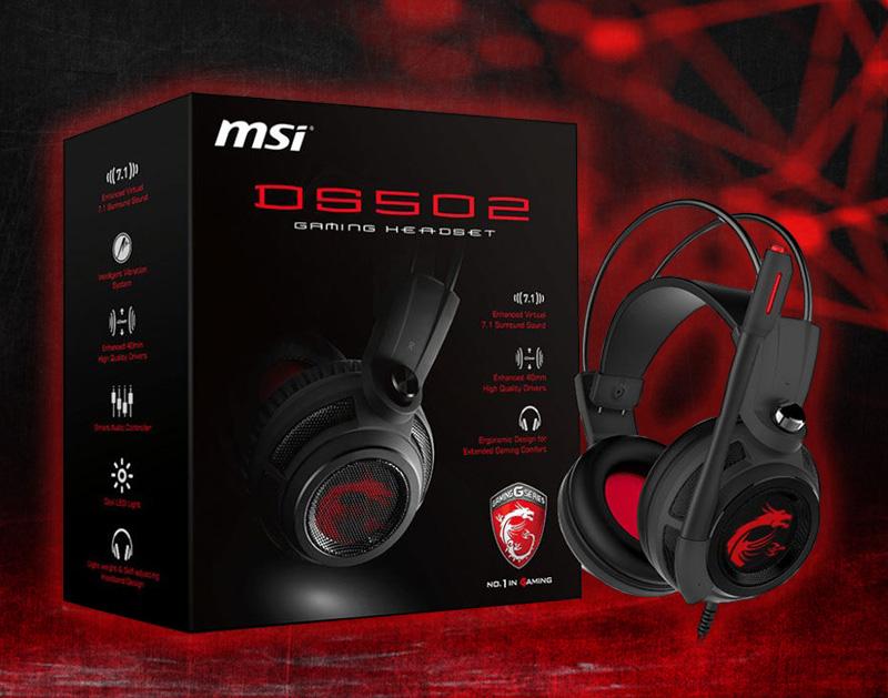 MSI DS502 schwarz/rot