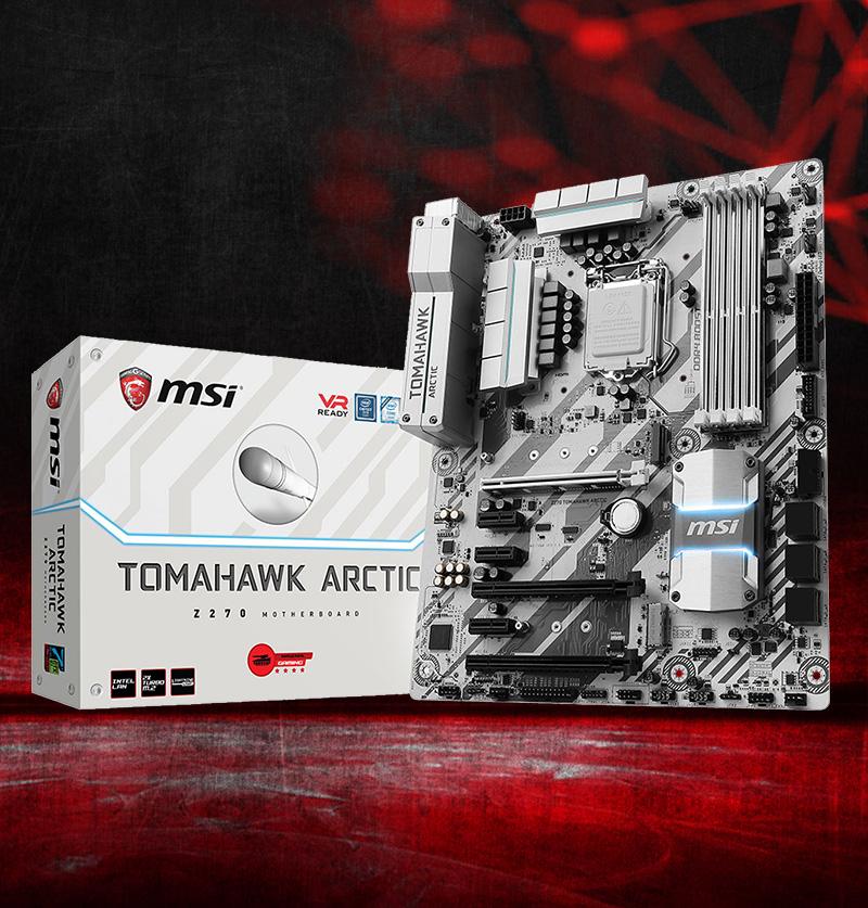 MSI Z270 TOMAHAWK Arctic Intel Z270 So.1151 Dual Channel DDR ATX Retail