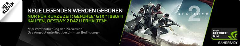 Gamecode für Destiny 2 beim Kauf einer GeForce® GTX™ 1080/Ti Grafikkarte