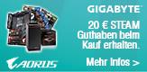 STEAM-Guthaben im Wert von 20 € beim Kauf eines ausgewählten GIGABYTE Mainboards
